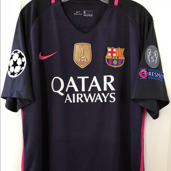 best service 7e569 40ccc NIKE FC Barcelona, Neymar Jr #11, UCL 3rd Kit